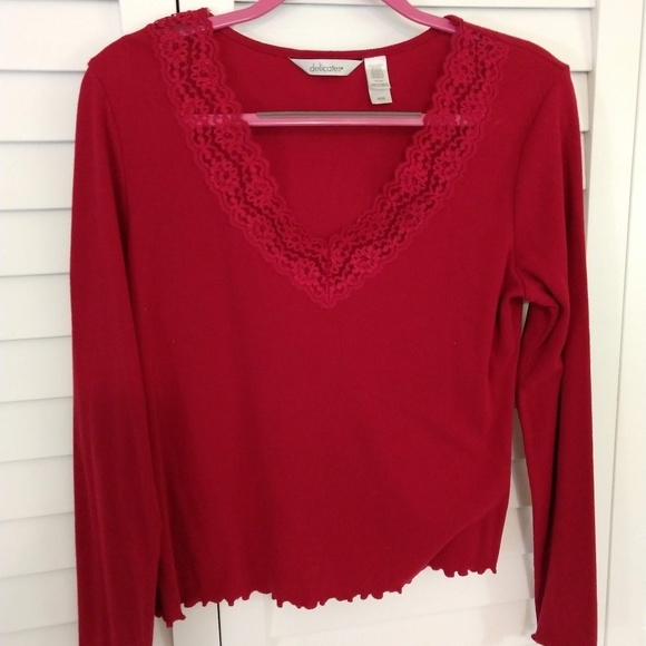 Delicates Tops - Cute Red Blouse